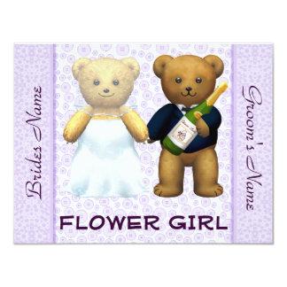 Florista - convite de casamento do lilac dos ursos
