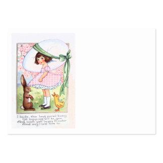 Florista do pato do ovo do coelhinho da Páscoa Cartão De Visita Grande