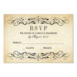 Flourish elegante dos cartão | do casamento convites