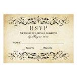 Flourish elegante dos cartão | do casamento vintag