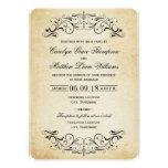 Flourish elegante dos convites | do casamento vint