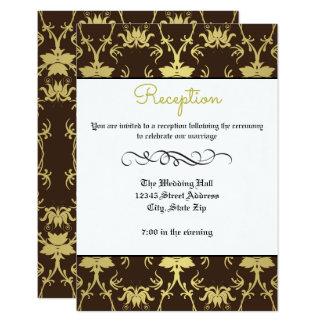 Flourish formal retro do ouro - convite da