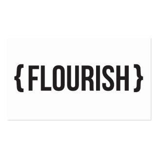 Flourish - suportado - preto e branco cartões de visita