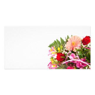 flower cartoes com foto personalizados