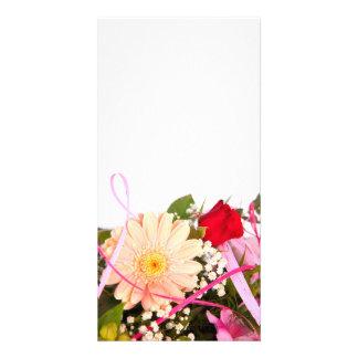 flower cartões com fotos personalizados