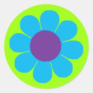 Flower power adesivo redondo