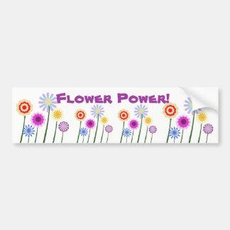 Flower power, autocolante no vidro traseiro colori adesivo para carro
