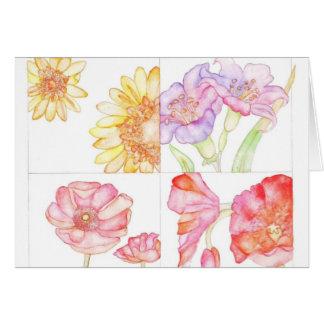 Flower power cartão comemorativo