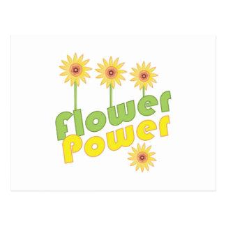 Flower power cartão postal