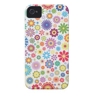Flower power feliz capinhas iPhone 4