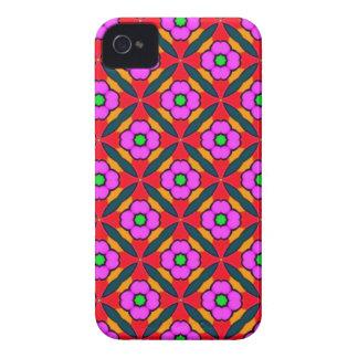 Flower power no design cor-de-rosa capa para iPhone