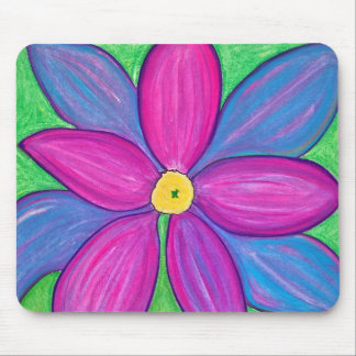 Flower power roxo mouse pad