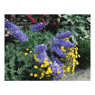 Flowerbeds com base em Hadden Salão, Inglaterra Panfleto Personalizado