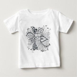 FlowerofHearts Camiseta Para Bebê