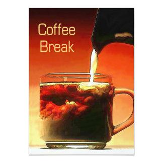 Fluindo o creme na ruptura de café convite 12.7 x 17.78cm