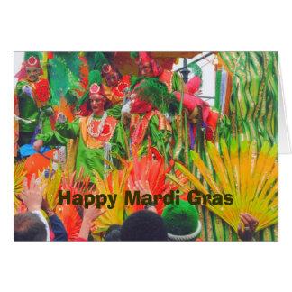 Flutuador de MG e cavaleiros coloridos, carnaval Cartão Comemorativo