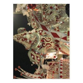 Flutuador do Harlequin em carnaval em Rio Cartão Postal