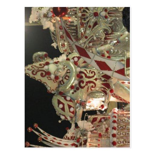 Flutuador do Harlequin em carnaval em Rio Cartoes Postais