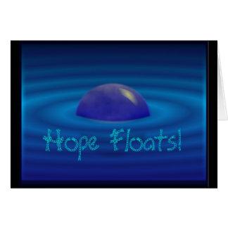 Flutuadores da esperança, cartão vazio