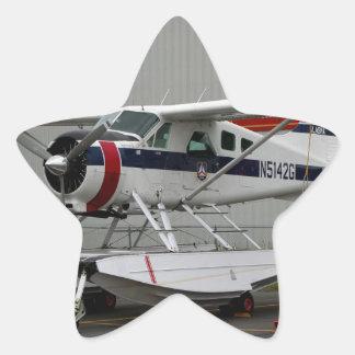 Flutue o plano 24, capa do lago, Alaska Adesivo Estrela