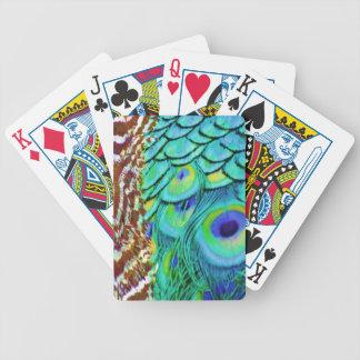 Fluxo calmo do Peafowl Baralhos Para Poker