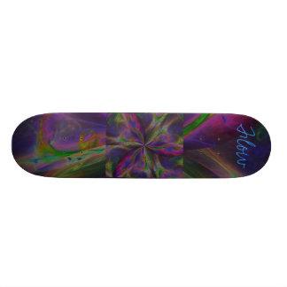 Fluxo do arco-íris da trindade shape de skate 20,6cm