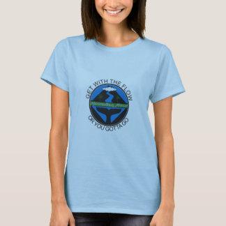 Fluxo havaiano camiseta