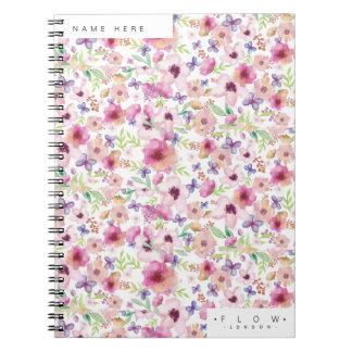 Fluxo - LONDRES - caderno floral personalizado