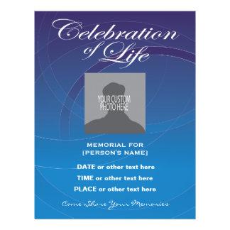 Flyer A celebração do azul da vida circunda o insecto do