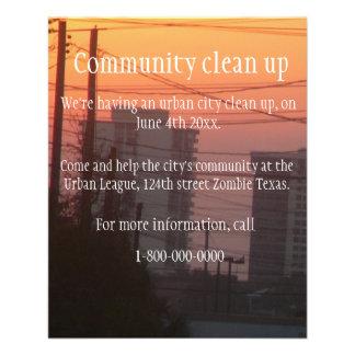 Flyer A comunidade limpa