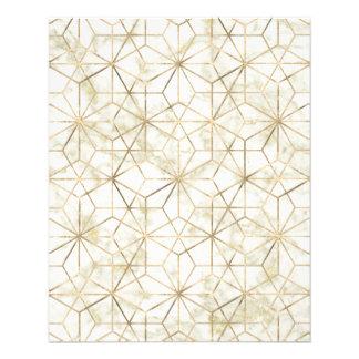 Flyer A estrela geométrica moderna do ouro e a de