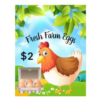 Flyer A fazenda fresca Eggs o insecto do promocional do