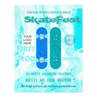 Flyer A propaganda do evento do skate adiciona a foto e