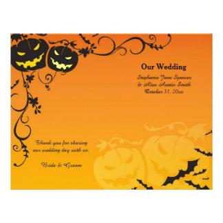 Flyer Abóboras do Dia das Bruxas que Wedding programas