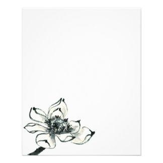Flyer Aguarela bonita Lotus da paz |