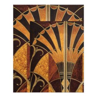 Flyer arte Nouveau, art deco, vintage, multi cores de