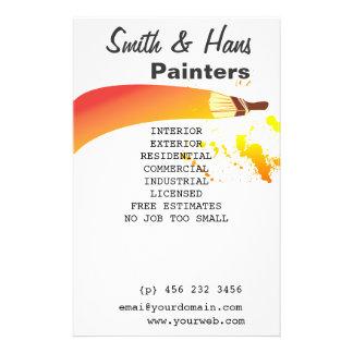 Flyer Artista colorido brilhante do pintor de casa