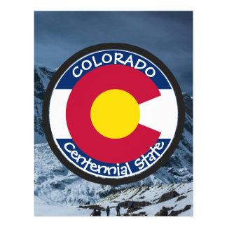 Flyer Bandeira da circular de Colorado