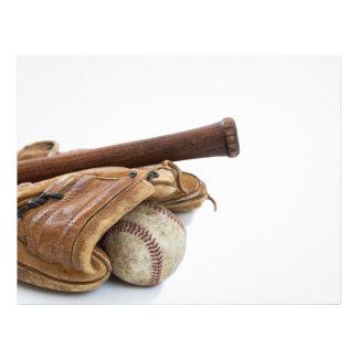 Flyer Basebol e bastão do vintage