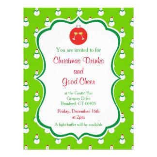 Flyer Bebidas do Natal & bom convite do elogio