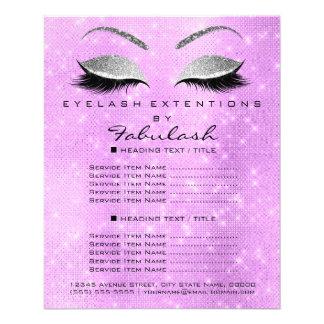 Flyer Brilho Lavanda2 da prata do salão de beleza do