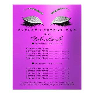 Flyer Brilho Lavanda4 da prata do salão de beleza do
