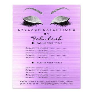 Flyer Brilho Lavanda5 da prata do salão de beleza do