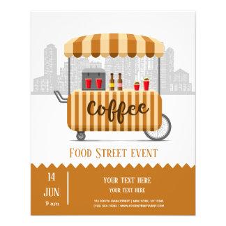 Flyer Café do cappuccino da rua da comida