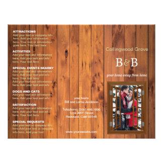 Flyer Cama rústica - e - cereja dobrável em três partes