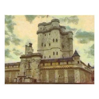 Flyer Castelo de Vincennes, pintura de Paris