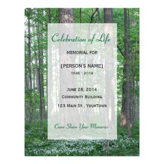 Flyer Celebração memorável da floresta Invitatition da