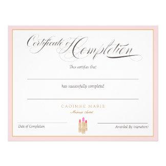 Flyer Certificado do prêmio da conclusão
