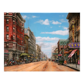 Flyer Cidade - Memphis TN - alameda 1909 da rua