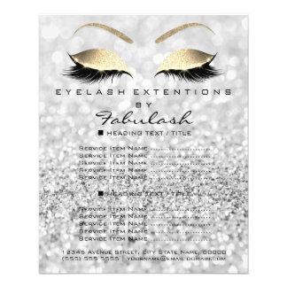 Flyer Cinzas do insecto do brilho do ouro do salão de